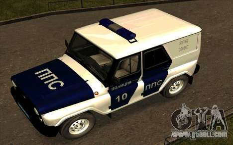 UAZ Hunter PPP for GTA San Andreas upper view