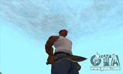 Kukri knife-machete for GTA San Andreas second screenshot