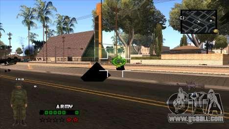 C-HUD Army for GTA San Andreas