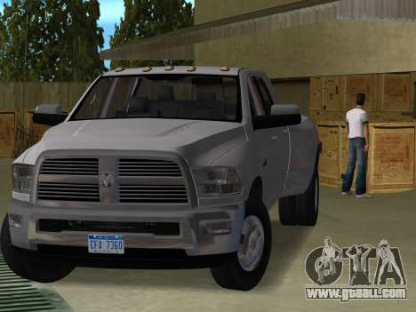 Dodge Ram 3500 Laramie 2012 for GTA Vice City
