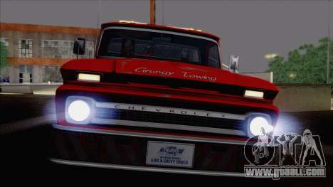 Chevrolet C20 Towtruck 1966 1.01 for GTA San Andreas back view