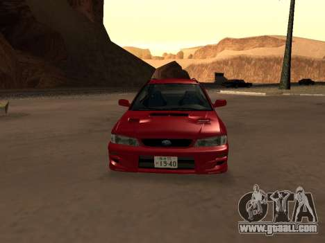 Subaru Impreza Wagon for GTA San Andreas inner view