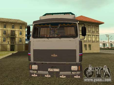 6430 MAZ timber carrier for GTA San Andreas left view