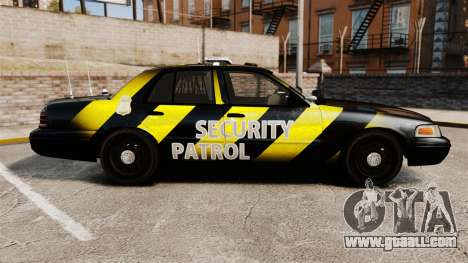 Ford Crown Victoria 2008 Security Patrol [ELS] for GTA 4 left view