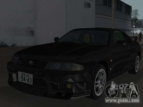 Nissan SKyline GT-R BNR33 for GTA Vice City wheels