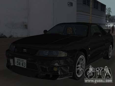 Nissan SKyline GT-R BNR33 for GTA Vice City wheels