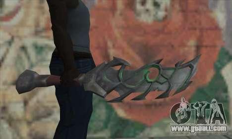 The sword of World of Warcraft for GTA San Andreas third screenshot
