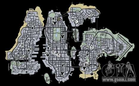 Liberty City Map V Style for GTA 4 third screenshot