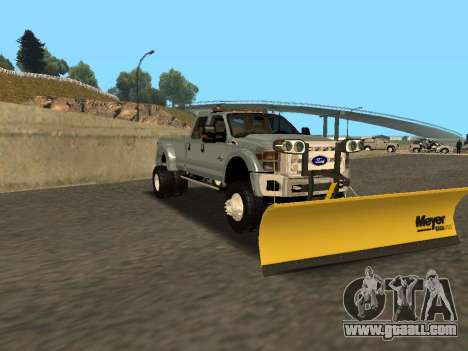 Ford F-450 for GTA San Andreas back left view