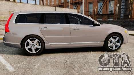 Volvo V70 Unmarked Police [ELS] for GTA 4 left view