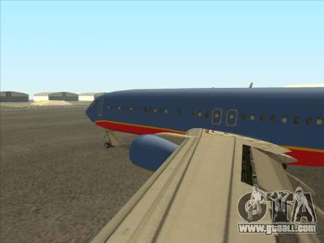 Boeing 737 Southwest Airlines for GTA San Andreas back left view