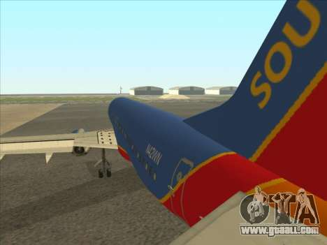 Boeing 737 Southwest Airlines for GTA San Andreas right view