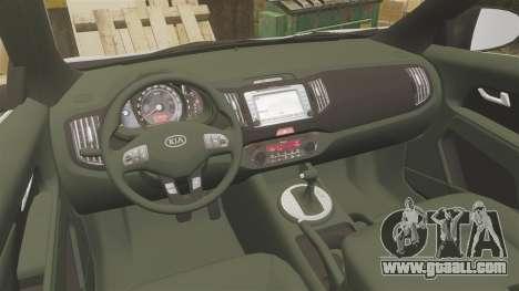 Kia Sportage Metropolitan Police [ELS] for GTA 4 back view