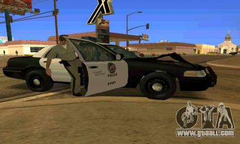 Ford Crown Victoria Police LV for GTA San Andreas bottom view