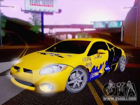 Mitsubishi Eclipse v4 for GTA San Andreas side view