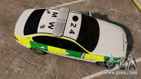 BMW 330i Ambulance [ELS] for GTA 4 right view