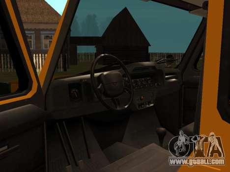 UAZ-3159 Bars for GTA San Andreas back view