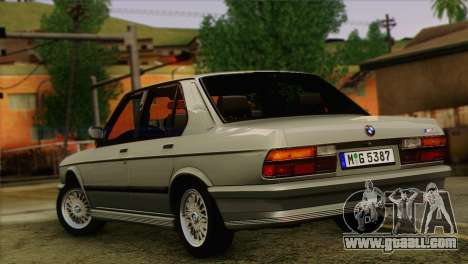 BMW M5 E28 for GTA San Andreas right view