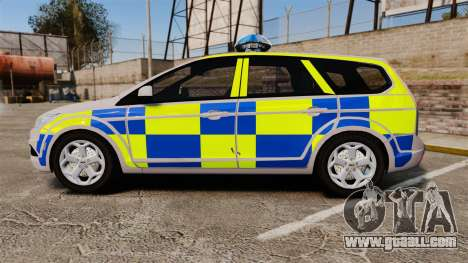 Ford Focus Estate 2009 Police England [ELS] for GTA 4 left view