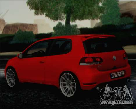 Volkswagen Golf Mk6 for GTA San Andreas left view