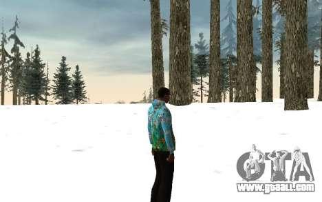 Sochi 2014 jacket for GTA San Andreas forth screenshot