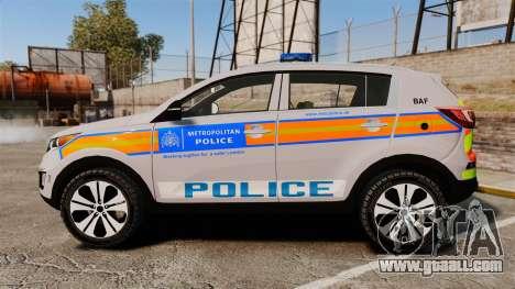 Kia Sportage Metropolitan Police [ELS] for GTA 4 left view