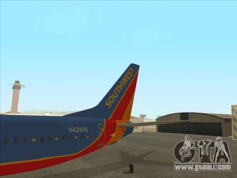 Boeing 737 Southwest Airlines for GTA San Andreas upper view