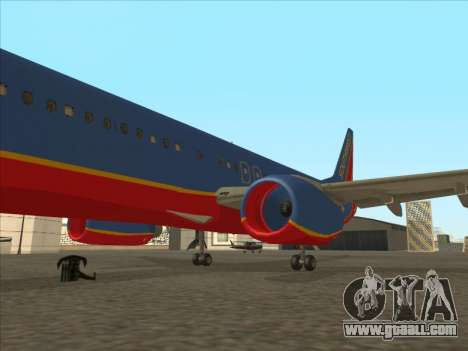 Boeing 737 Southwest Airlines for GTA San Andreas interior