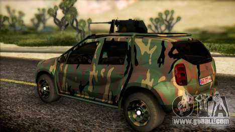 Dacia Duster Army Skin 2 for GTA San Andreas left view