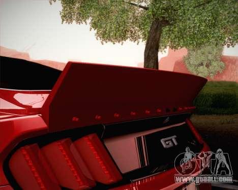 Ford Mustang Rocket Bunny 2015 for GTA San Andreas bottom view