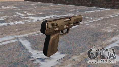 Self-loading pistol FN Five-seveN MW3 for GTA 4 second screenshot