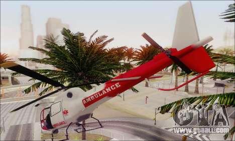 GTA V Ambulacia Maverick for GTA San Andreas inner view