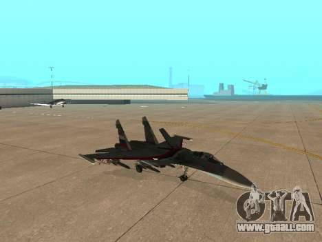 Su 33 for GTA San Andreas inner view