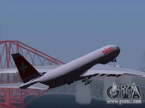 Airbus A330-223 Swiss International Airlines for GTA San Andreas wheels