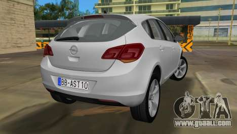 Opel Astra 2011 for GTA Vice City back left view