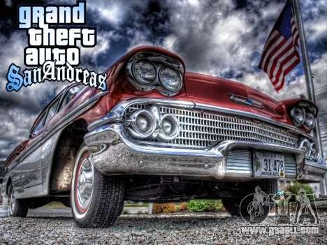New loadscreen Old Cars for GTA San Andreas forth screenshot