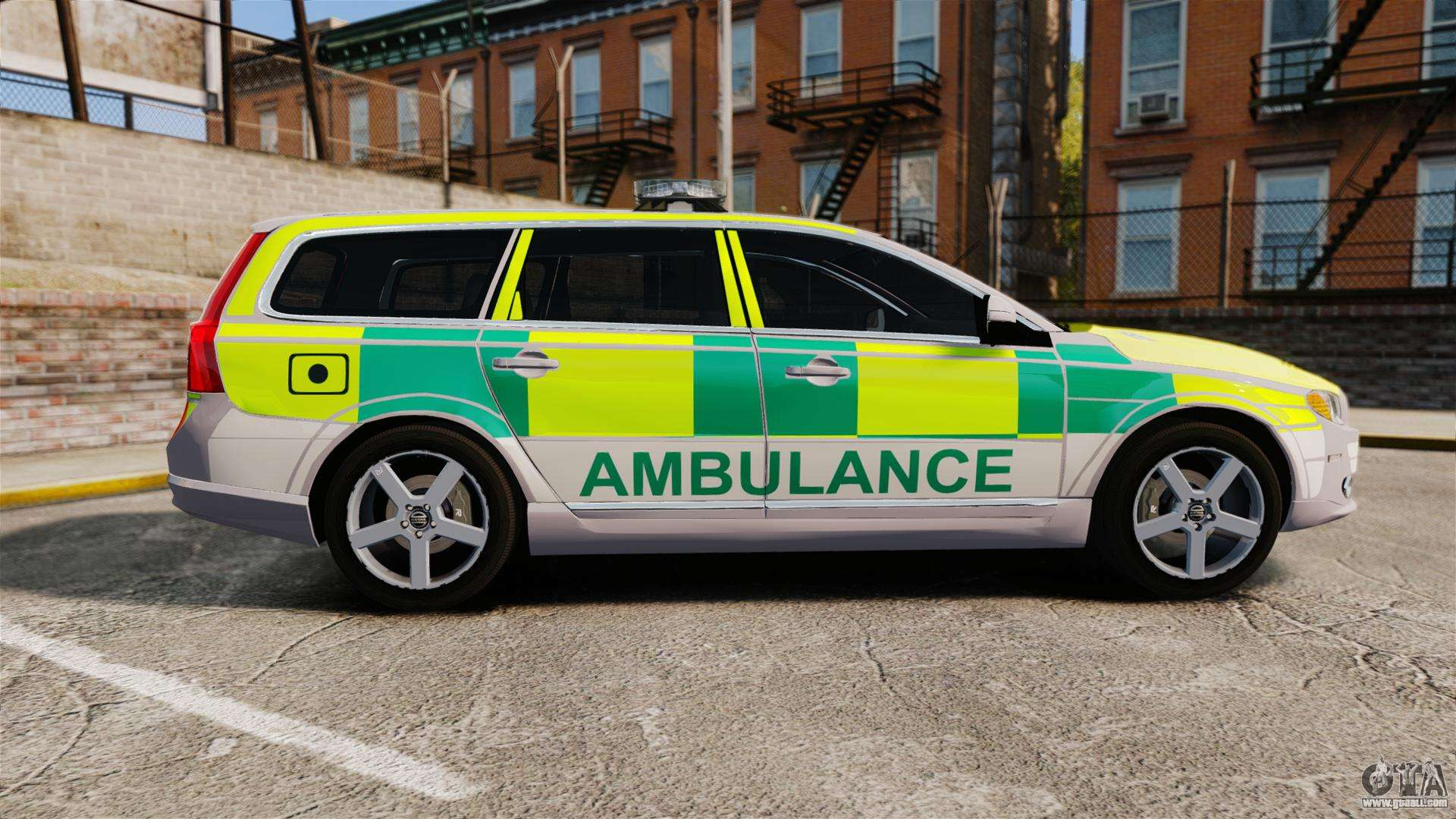 volvo v70 ambulance els for gta 4. Black Bedroom Furniture Sets. Home Design Ideas
