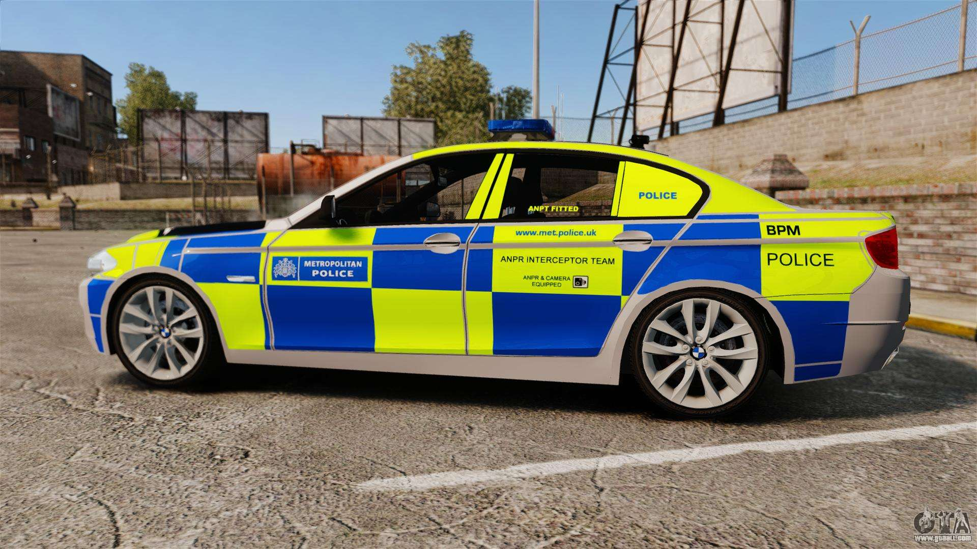 Bmw 550i Metropolitan Police Els For Gta 4