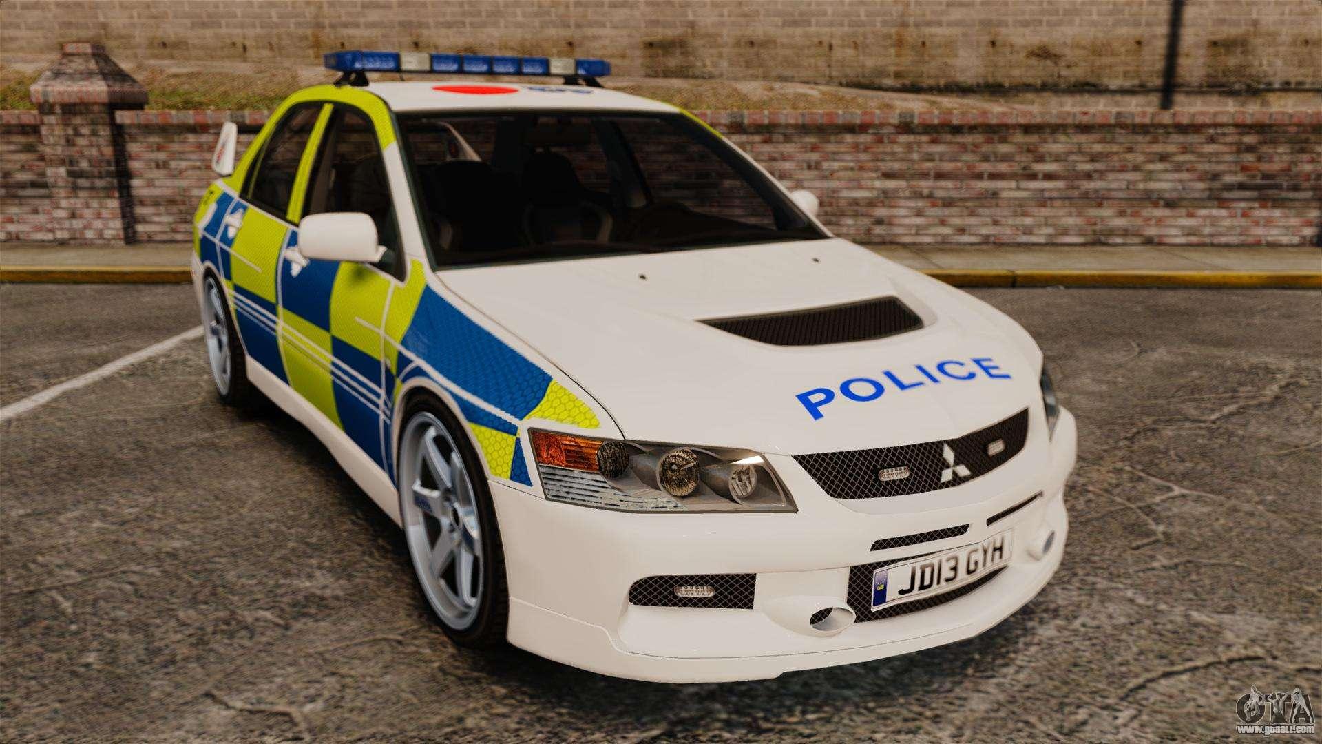 Mitsubishi Lancer Evolution Ix Uk Police Els For Gta 4