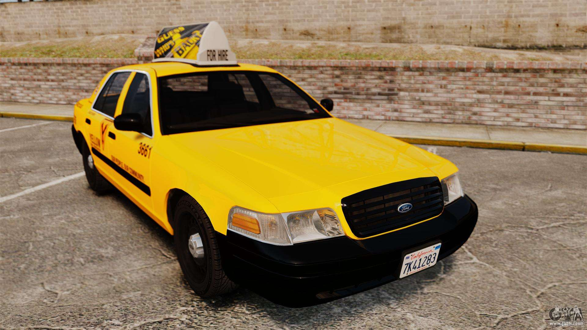 Ford crown victoria 1999 sf yellow cab for gta 4 for Schuhschrank yellow cab