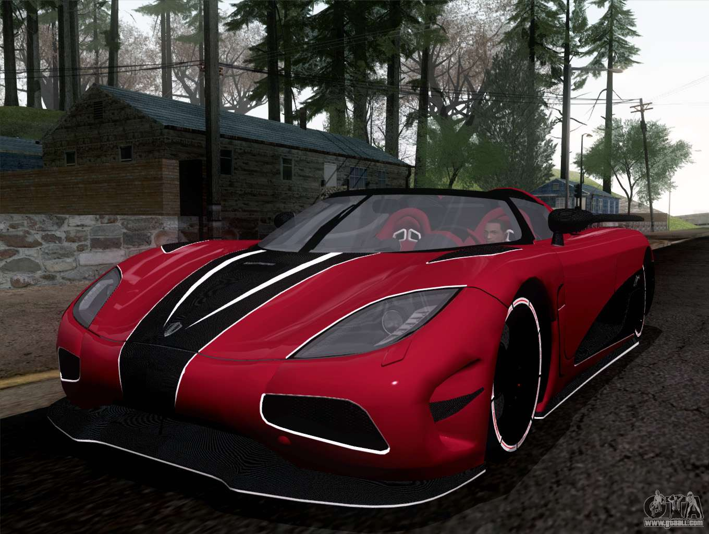 8 Passenger Vehicles >> Koenigsegg Agera R 2011 for GTA San Andreas