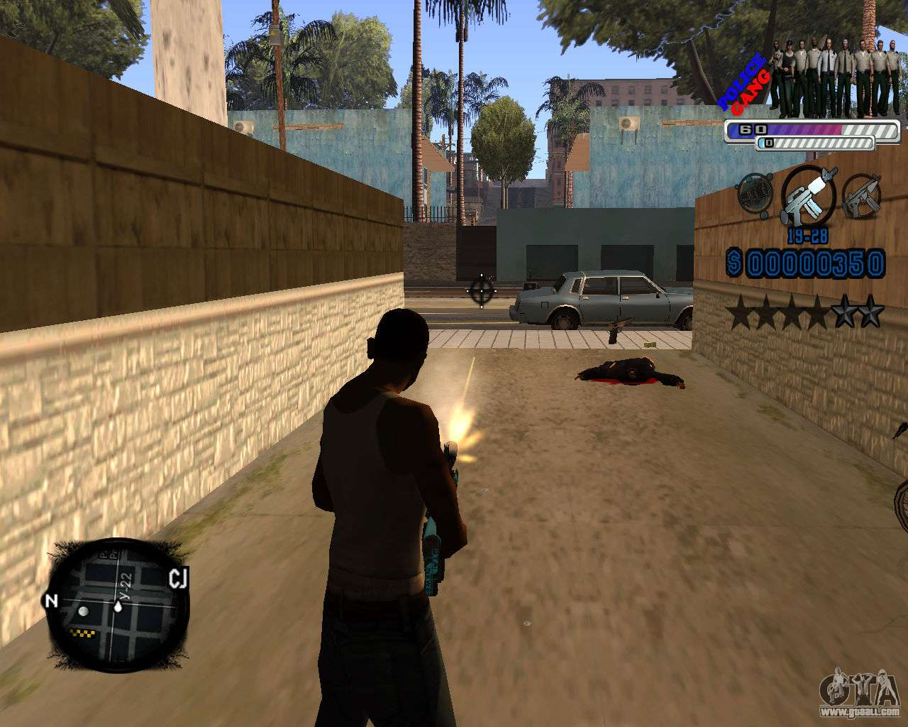 C Hud Police Gang For Gta San Andreas