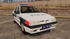 Renault 19 Turkish Police for GTA 4