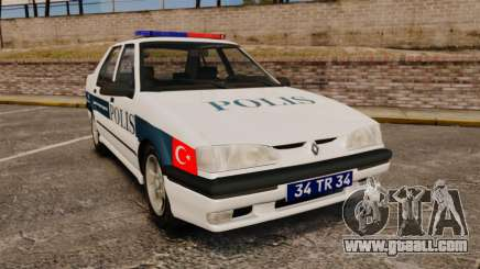Renault 19 Turkish Police for GTA 4
