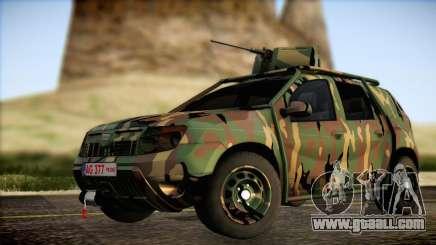 Dacia Duster Army Skin 2 for GTA San Andreas