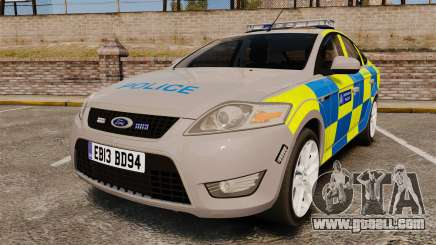 Ford Mondeo Metropolitan Police [ELS] for GTA 4