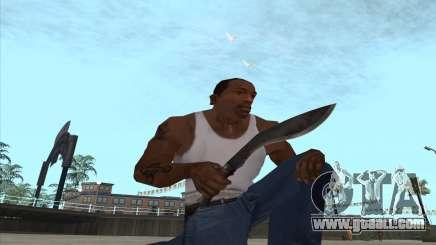 Kukri knife-machete for GTA San Andreas