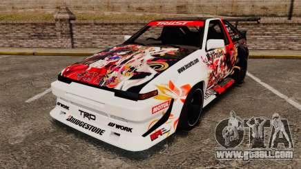 Toyota Corolla GT-S AE86 [EPM] Reimu Hakurei for GTA 4