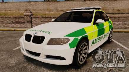BMW 330i Ambulance [ELS] for GTA 4