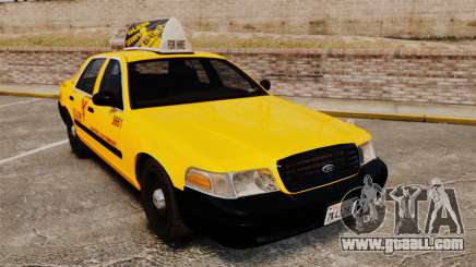 Ford Crown Victoria 1999 SF Yellow Cab for GTA 4